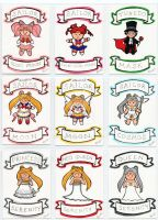 Sailor Moon Chibis ACEO Set 2 by sailorsilverfalcon