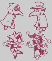 Rough Plague Doctors by madpuffins
