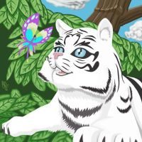 White tiger by 0g0p0g0