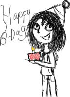 Jeff The Killer Happy B-day by Crazylight36