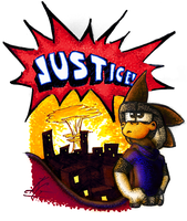 I Fight For Justice by TheStaticCling