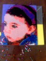 perler beads portrait photo 1 by darthmagician