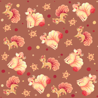 Vulpix and Ninetales pattern by Agui-chan