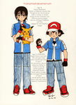 Doujinshi vs Anime: Ash Ketchum by Kisarasmoon