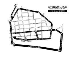 Heritage Run Race Route by charmainecbk