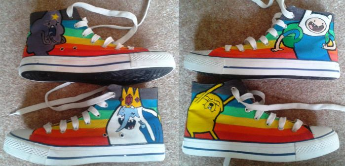 Adventure Time Shoes by Skelebug