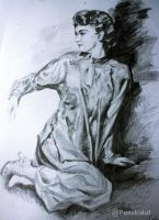 Touch The Light (8b pencil) by panskiduf