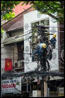 Wire chaos - Vietnam by Dominion-Photography