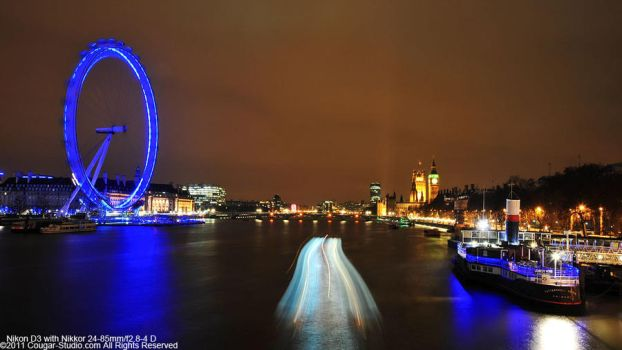 the blue London Eye by Cougar-Studio
