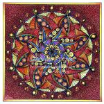 August Mandala 8 with background completed. by Artwyrd