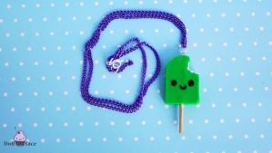 Polymer Clay Ice Cream Necklace by Dollface-RYJ