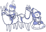 Babies on Llamas by AnArtistCalledRed