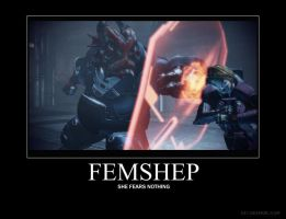 FemShep VS Fear by Feena-c