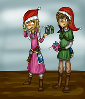 a LoZ Christmas -for a secret Santa- by halopanda