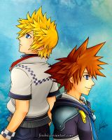 Roxas and Sora by Ferchii