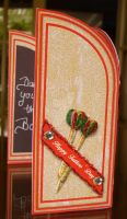 1st side view of Dartboard father's Day Card by blackrose1959