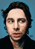 Zach Braff by Artist-KGH