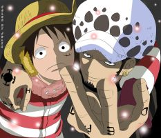 Luffy and Law OP by KiryuuYumi