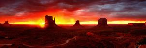 Monument Valley Sunrise by kimjew