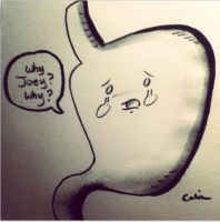 Joey's Stomach by ChibiCelina