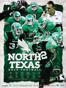 UNT Football poster by Satansgoalie