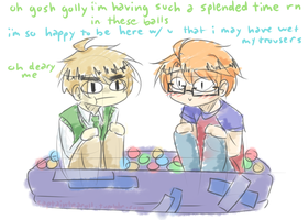 usuk ball pit by CaptainJellyroll
