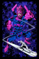 Galactus and SSurfer - Loston by icoman