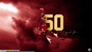Michael Jordan Air 50 Wallpaper by Chadski51