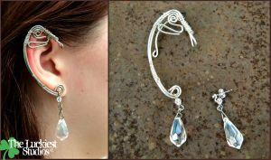 Wire Wrap Elf Ear Cuff by Louness26