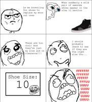 shoe rage!! by redcomet117