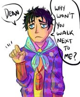 Human Cas Can't Pick Clothes by ghostcrown