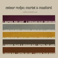 Color Mixing Recipe - Merlot and Mustard by NellieWindmill