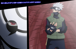 Naruto 594: Kakashi and Tobi by IITheDarkness94II