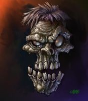 Zombie Head by Grimbro