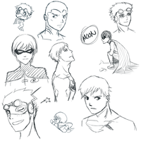 Young Justice sketch dump by dyaoka