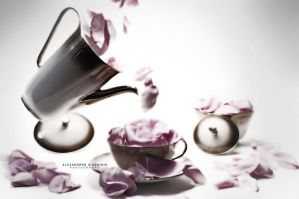 Petal Tea Time II by AlexAidonidis