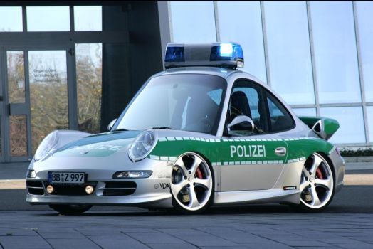 Porche Police Car by carlosnumbertwo