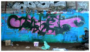 This is graffiti by bonjoure