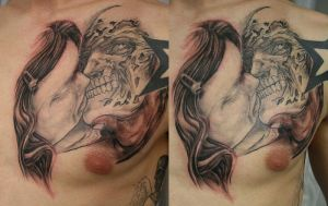 Beauty and Beast TaT by 2Face-Tattoo