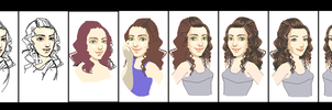 Step by Step: Pixel Portrait by LadyHazy