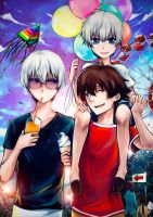 L-elf and Haruto: Family Day by Dessa-nya