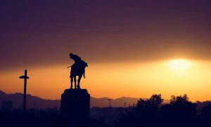 Silhouette-horse Statue-barcelona by YugoBoss