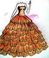 random dress4-orange-brown by NeonGenesisEVARei