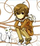 Child with white cat  .-. by ChocoHal