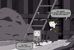 Data and BMO Noire by TheHalfBloodPierrot