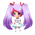 commission example chibi 1- peppermint by roxaswantsacupcake