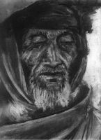 charcoal old man by fufapadurii