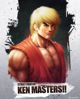 fan art ken masters street fighter by KarbaArttacke
