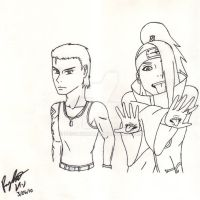 Billy and Deidara +For Leon+ by RayneDarkknight