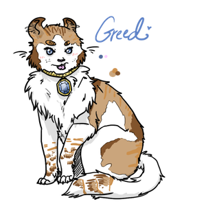 Greed - 7 Deadly Sins Cat Contest by Creamy-Galaxies